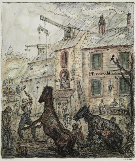 Alfred Kubin - Pferdeschlächterei