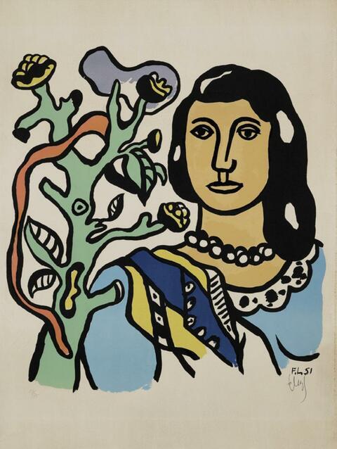 Fernand Léger - La Femme et la Fleur