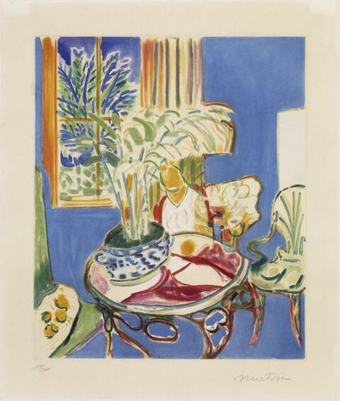 Nach Henri Matisse - Petit Intérieur bleu