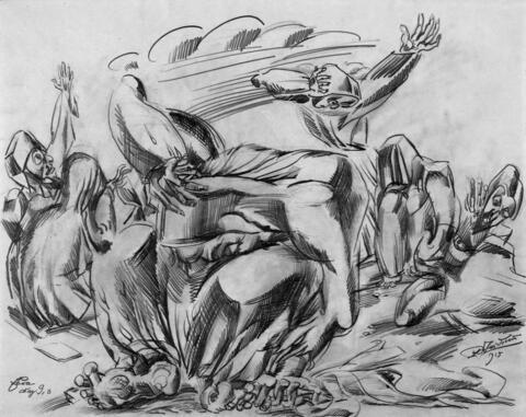 Ludwig Meidner - Prophet (Esra, Kap. 9.3)