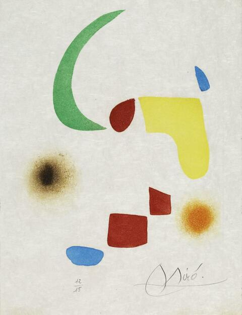 Joan Miró - Aus: Le Vent parmi les Roseaux