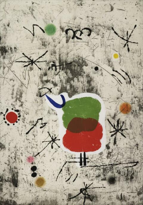 Joan Miró - Personatge I Estels I