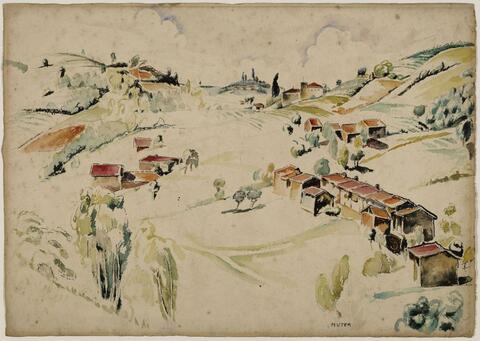Mela Muter (Maria Melania Mutermilch) - Südliche Landschaft mit Häusern