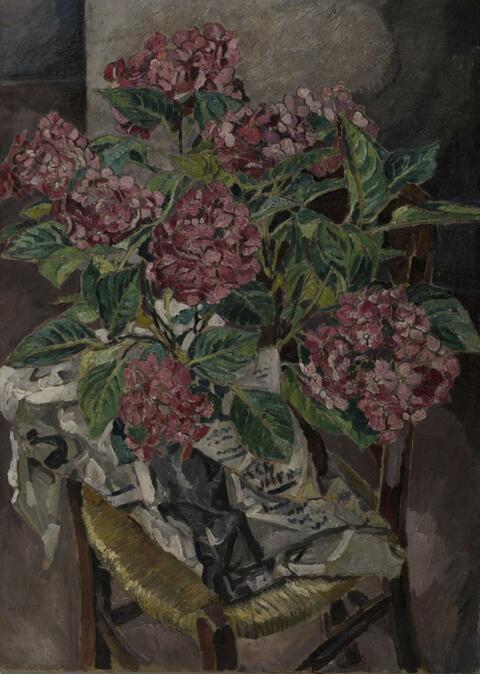 Mela Muter (Maria Melania Mutermilch) - Stilleben mit rosafarbenen Hortensien