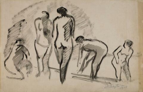 Hermann Max Pechstein - Fünf weibliche Akte