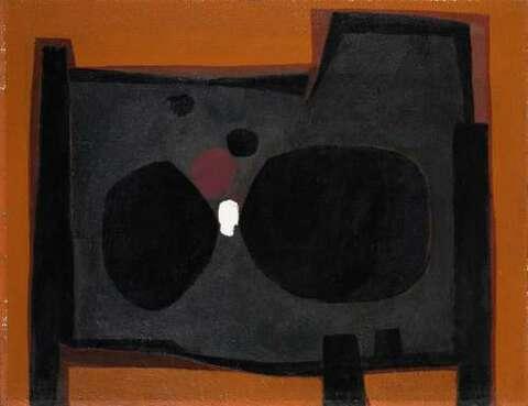 Paul Reichle - Komposition Schwarz-Orange