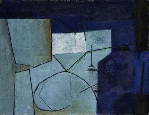 Paul Reichle - Komposition mit zwei Formen