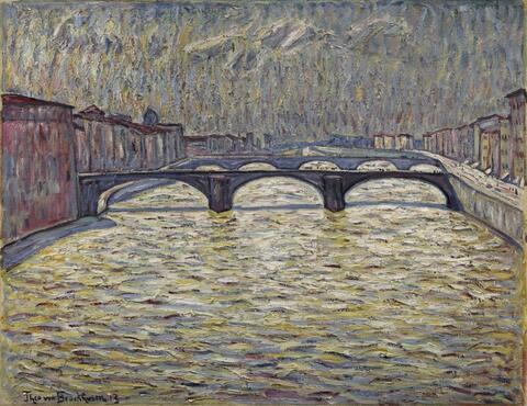 Theo von Brockhusen - Arnobrücken in Florenz