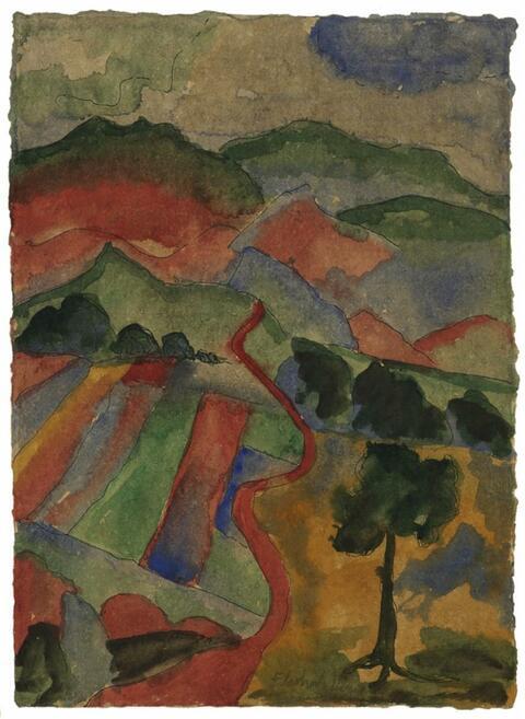 Eberhard Viegener - Weg in die Berge