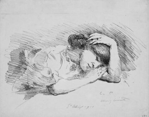 Lovis Corinth - Schlafende