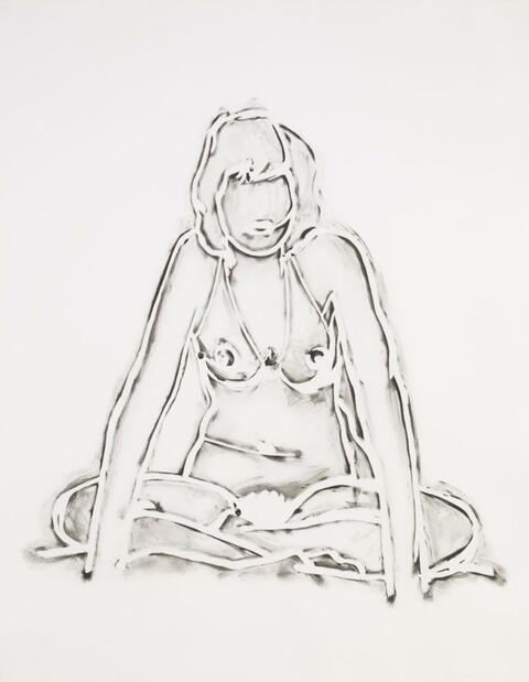 Tom Wesselmann - MONICA SITTING CROSS LEGGED