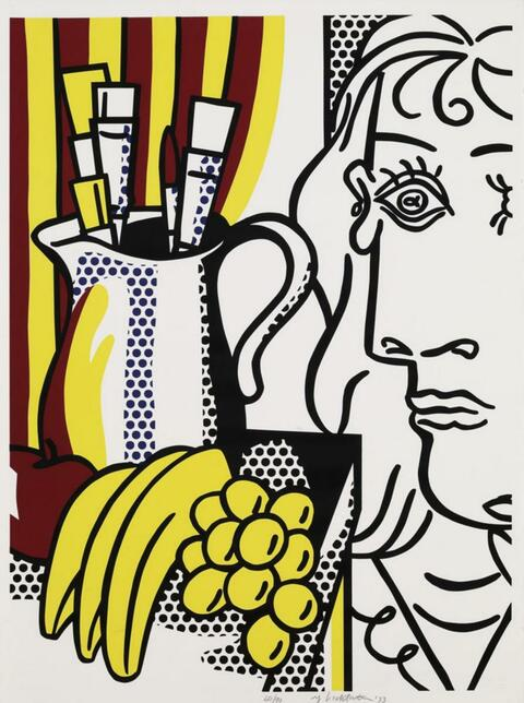 Roy Lichtenstein - STILL LIFE WITH PICASSO