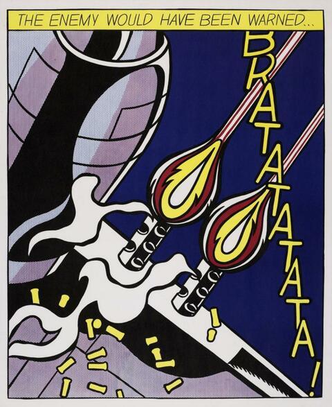 Roy Lichtenstein - As I opened fire poster