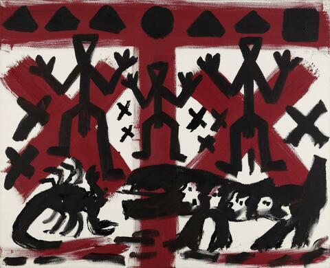 A.R. Penck - OHNE TITEL (DREI VON VIELEN)