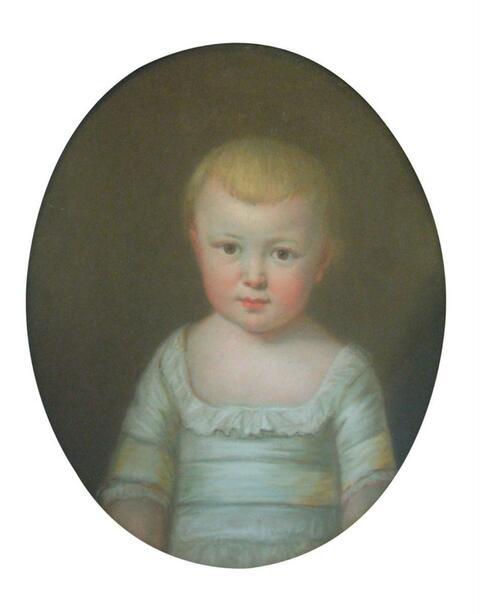 Joseph Friedrich Darbes, zugeschrieben - BILDNIS CARL FRIEDRICH VON ALVENSLEBENS ALS KIND.