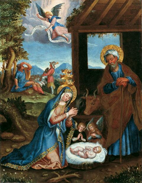 Italienischer Meister - GEBURT CHRISTI.