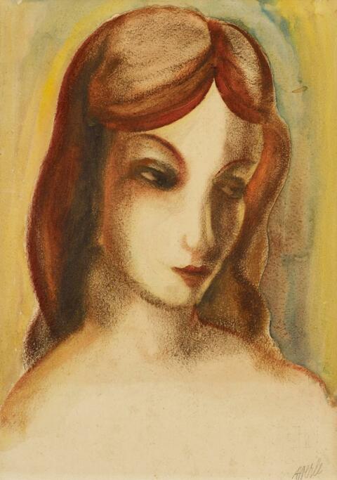 Heinrich Hoerle - Porträt Angelika Hoerle