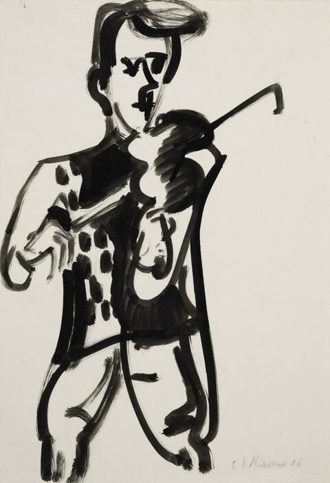 Ernst Ludwig Kirchner - Stehender Geiger (Gustav Häusermann)