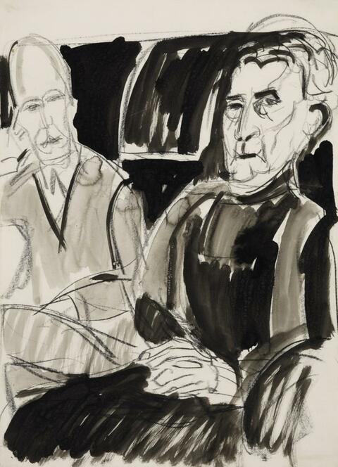 Ernst Ludwig Kirchner - Doppelbildnis (Dr. Frédéric Bauer mit seiner Mutter)