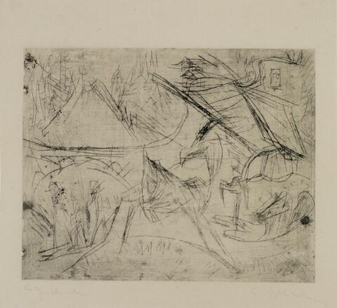 Ernst Ludwig Kirchner - Ziegen in Landschaft (unvollendet)