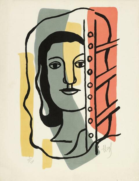 Fernand Léger - Tête de femme