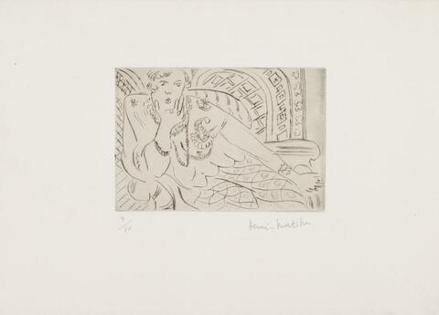 Henri Matisse - Jeune Femme sur fond Moucharabieh