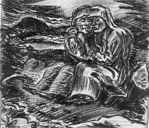Ludwig Meidner - Zwei sitzende Frauen