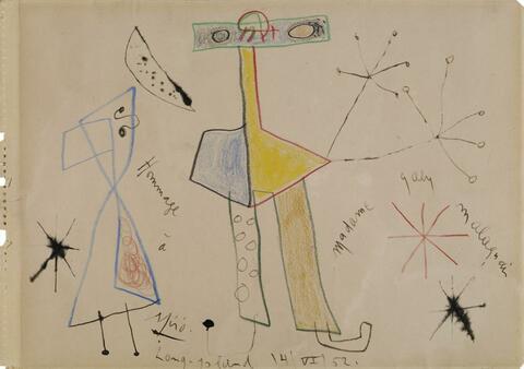 Joan Miró - Hommage à Madame Gaby Malaquais
