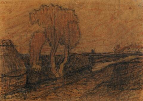 Otto Modersohn - Moorlandschaft mit Graben