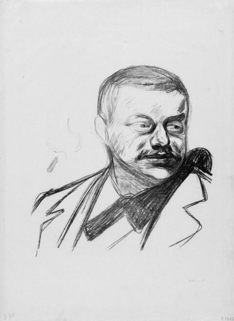 Edvard Munch - Portrait Gunnar Heiberg