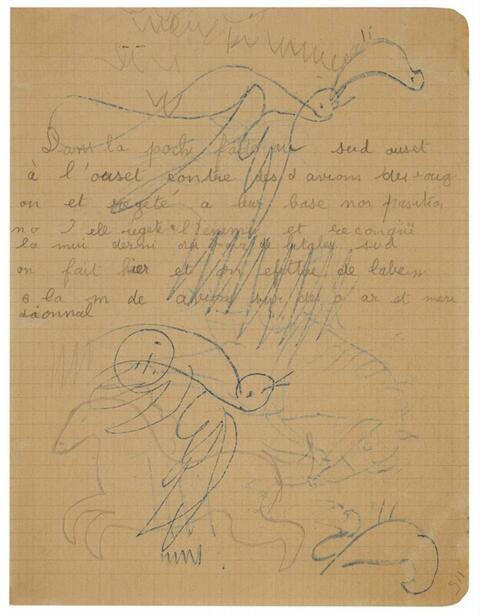 Pablo Picasso - Cheval - Oiseaux