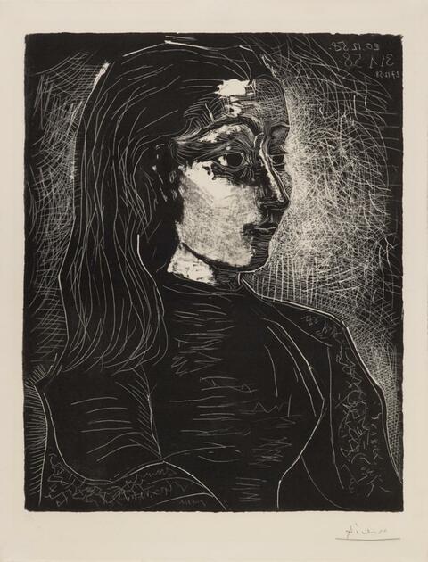 Pablo Picasso - Jacqueline de profil à droite