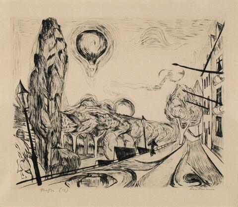 Max Beckmann - Landschaft mit Ballon