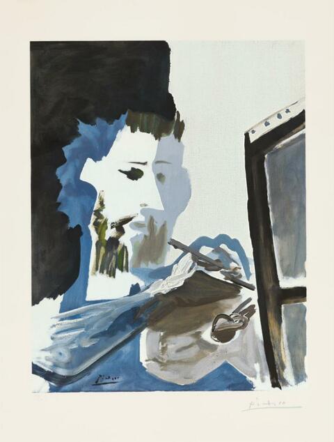 Nach Pablo Picasso - Le peintre