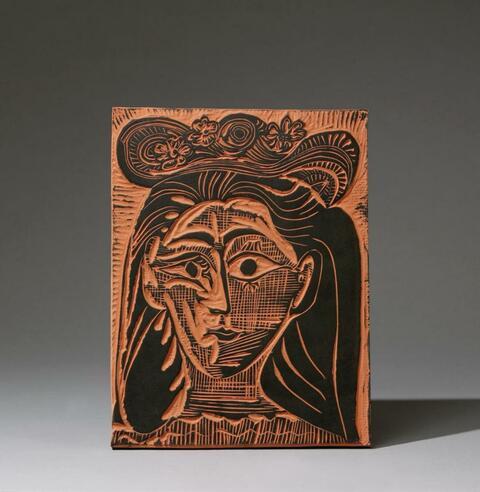 Pablo Picasso - Femme au chapeau fleuri