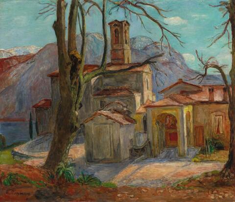 Hans Purrmann - Kirche von Castagnola