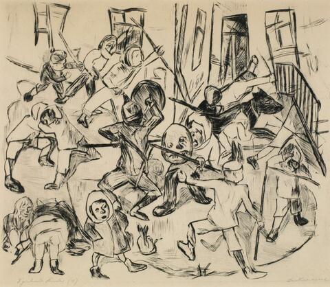 Max Beckmann - Spielende Kinder, Breitformat