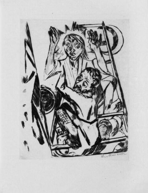Max Beckmann - Jakob ringt mit dem Engel