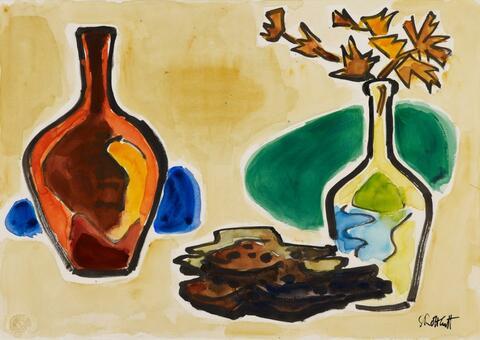 Karl Schmidt-Rottluff - Stilleben mit roter Vase