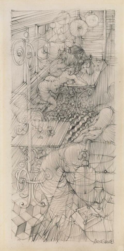 Hans Bellmer - Studie zu Madame Eduarda