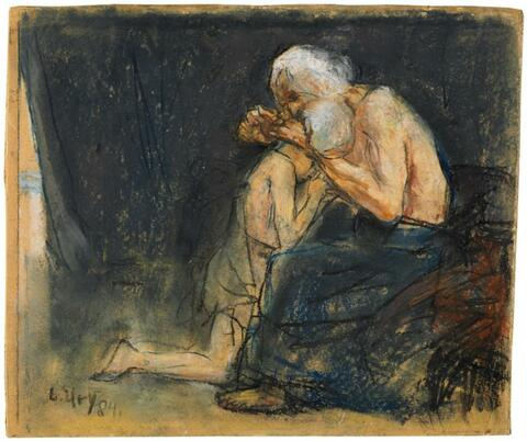 Lesser Ury - Jakob segnet Benjamin