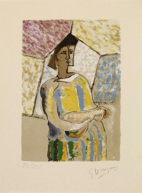 Georges Braque - La femme à la mandoline