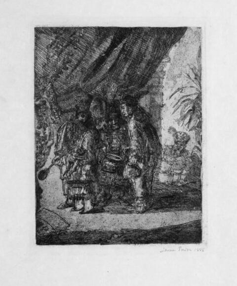 James Ensor - Iston, Pouffamatus ... examinant les selles de Darius