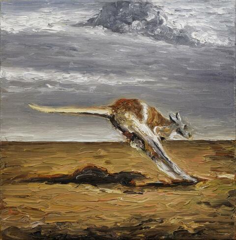 Karin Kneffel - Ohne Titel (Känguruh)
