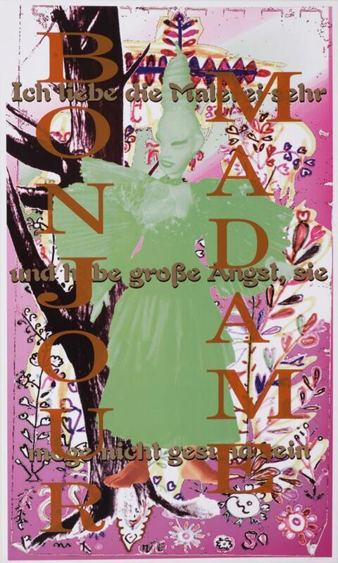 Albert Oehlen - Bonjour Madame ich liebe die Malerei sehr und habe grosse Angst, sie möge nicht gesund sein