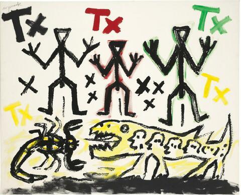 A.R. Penck - Drei von Vielen