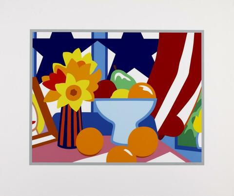 Tom Wesselmann - Still-Life with red Blowing Curtain