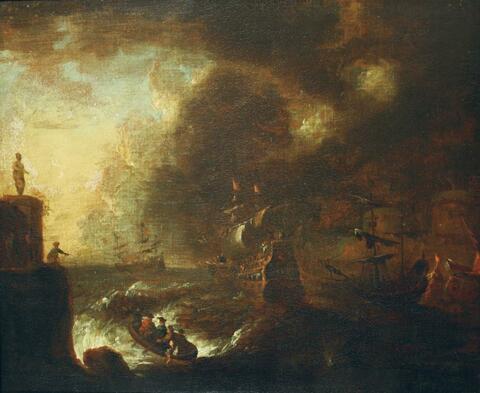 Pieter van den Velde, zugeschrieben - SCHIFFE IN SEENOT.