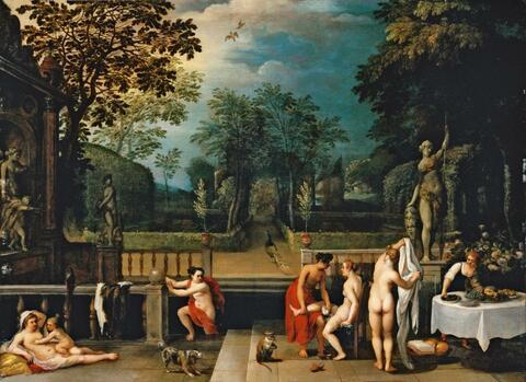 Jan Brueghel d. J. - VENUS, AMOR, DIANA UND DEREN NYMPHEN BEIM BADE