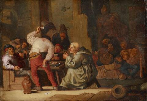 Adriaen van Ostade, circle of - CARD PLAYERS